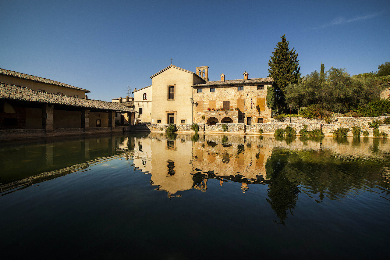 Bagno vignoni not your typical tuscan villageu