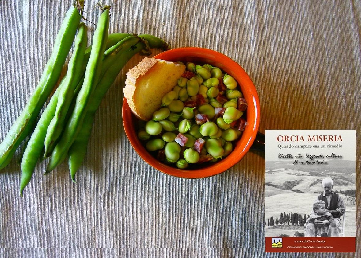 Zuppa di fave - orcia miseria - parco della val d'orcia